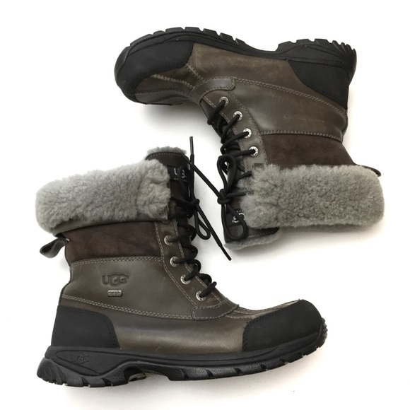 345f6d59033 UGG Butte Leather Waterproof Wool Lined Boots